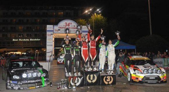 Il podio edizione 2015, con la vittoria del duo Sossella-Falzone e la beffa per Porro-Cargnelutti